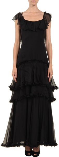 D&g Long Dress in Black - Lyst