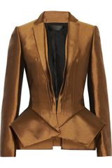 Haider Ackermann Wool and Silkblend Peplum Jacket