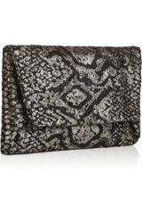 Lanvin Maitai Metallic Brocade Clutch in Black - Lyst
