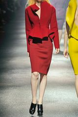 Lanvin Peplum Woolblend Jacket in Red - Lyst