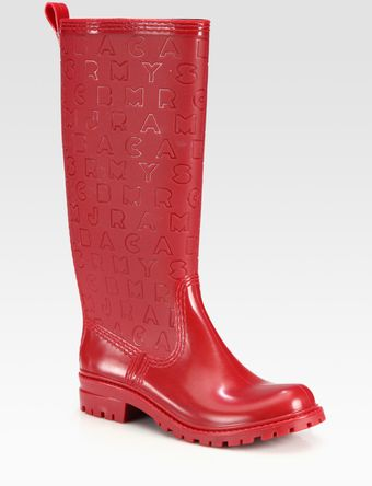 Marc By Marc Jacobs Logoembossed Rain Boots - Lyst