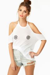 Nasty Gal Reply Tee - Lyst