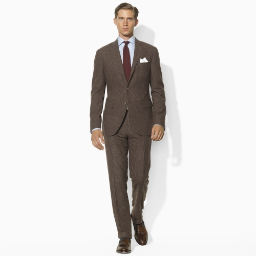 Polo ralph lauren Brown Houndstooth Suit in Brown for Men | Lyst