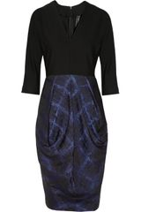 Zero + Maria Cornejo Crepe and Brocade Dress - Lyst