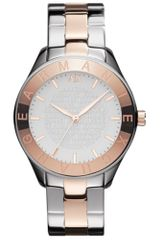 Armani Exchange Womens Two Tone Stainless Steel Bracelet Watch - Lyst