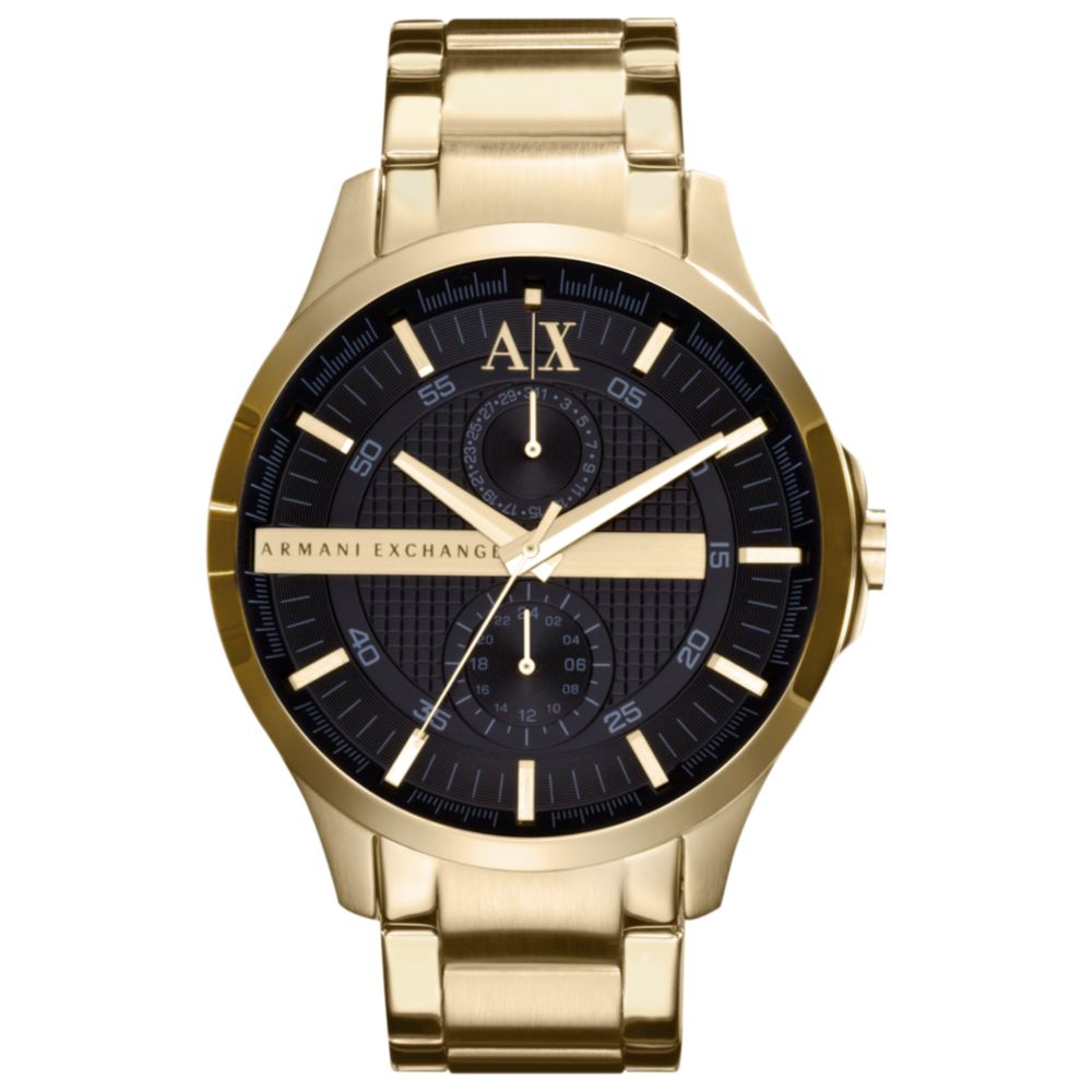 armani exchange s yellow gold ion plted stinless steel