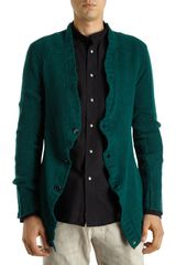 Balmain Loose Knit Cardigan in Green for Men - Lyst