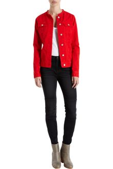 Christopher Kane X J Brand Collarless Denim Jacket - Lyst