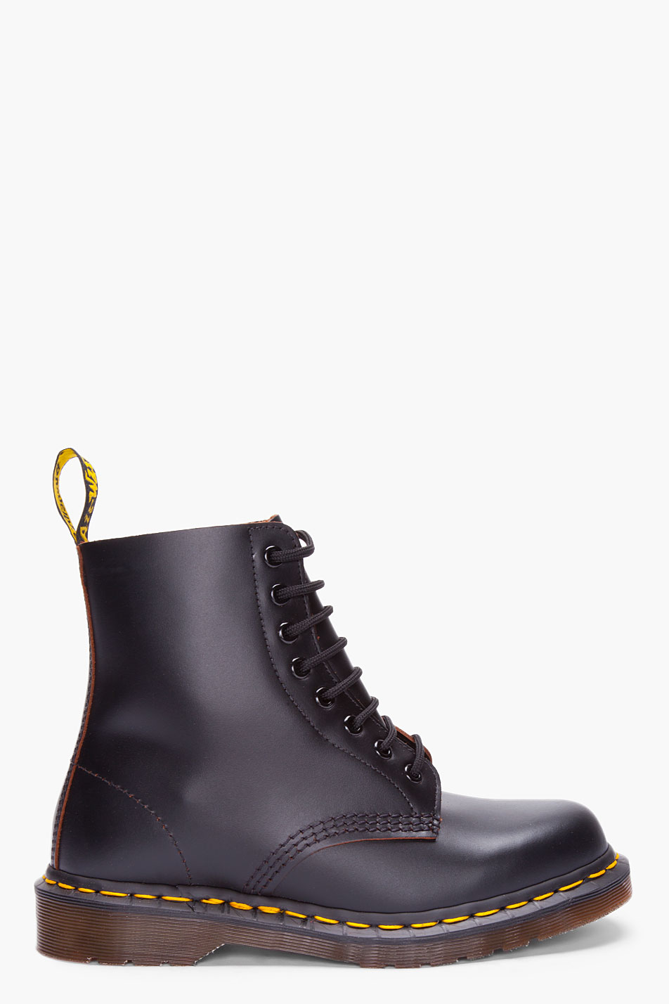 dr martens black leather boots in black for lyst