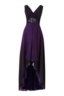 Js Collections Ombre V Neck High Low Beaded Dress - Lyst