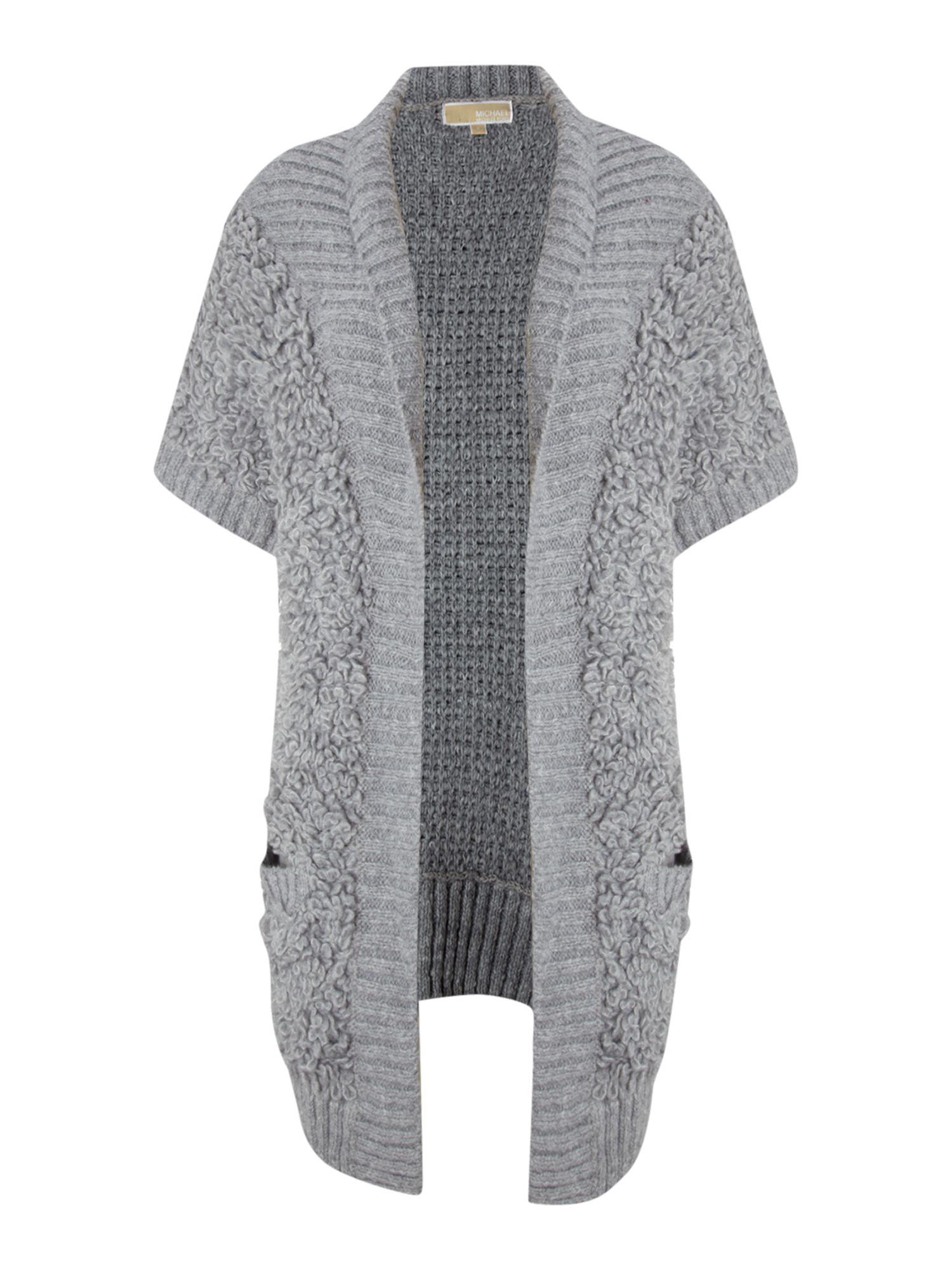 Michael Michael Kors Short Sleeve Loop Knit Cardigan In