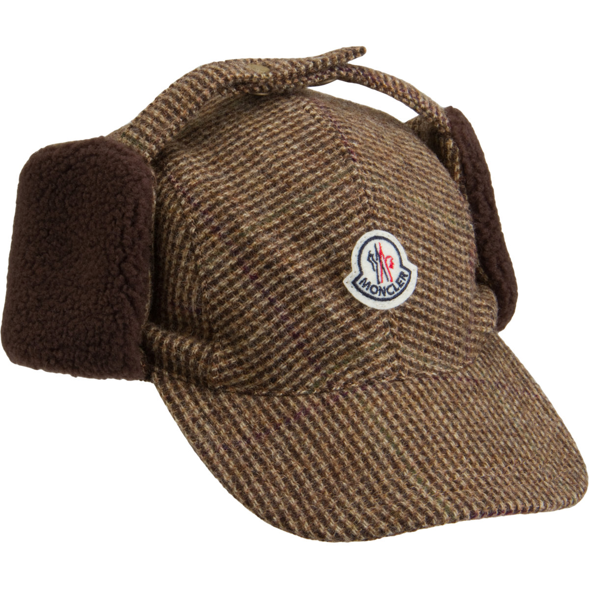 f08eea39b0da66 Moncler brown ear flap cap product jpg 1200x1200 Nike cap with ear flaps