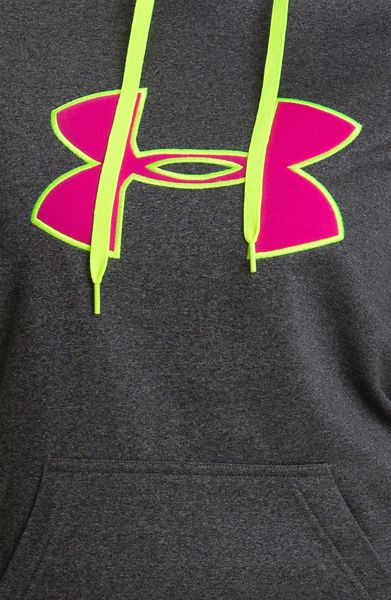 Under Armour Big Logo Hoodie in Gray (carbon heather ...