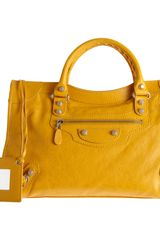 Balenciaga Arena Giant Stud City in Yellow (silver) - Lyst