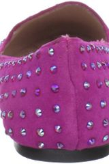 Betsey Johnson Betsey Johnson Womens Bliiingg Flat in Purple (fuchsia suede) - Lyst