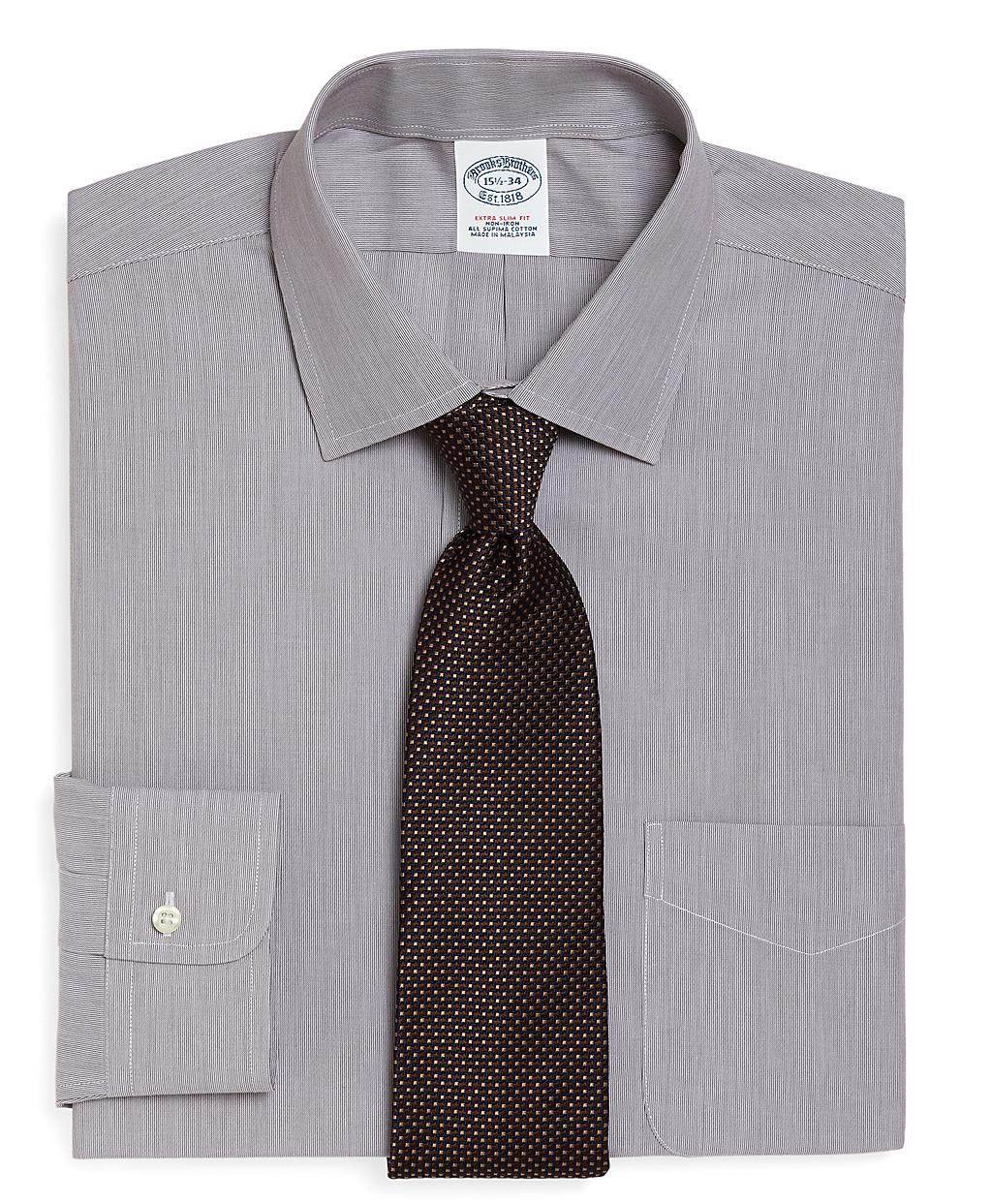 Brooks brothers supima cotton non iron extra slim fit for Extra slim dress shirt
