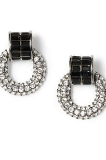 Brooks Brothers Crystal Pave Doorknocker Earrings - Lyst