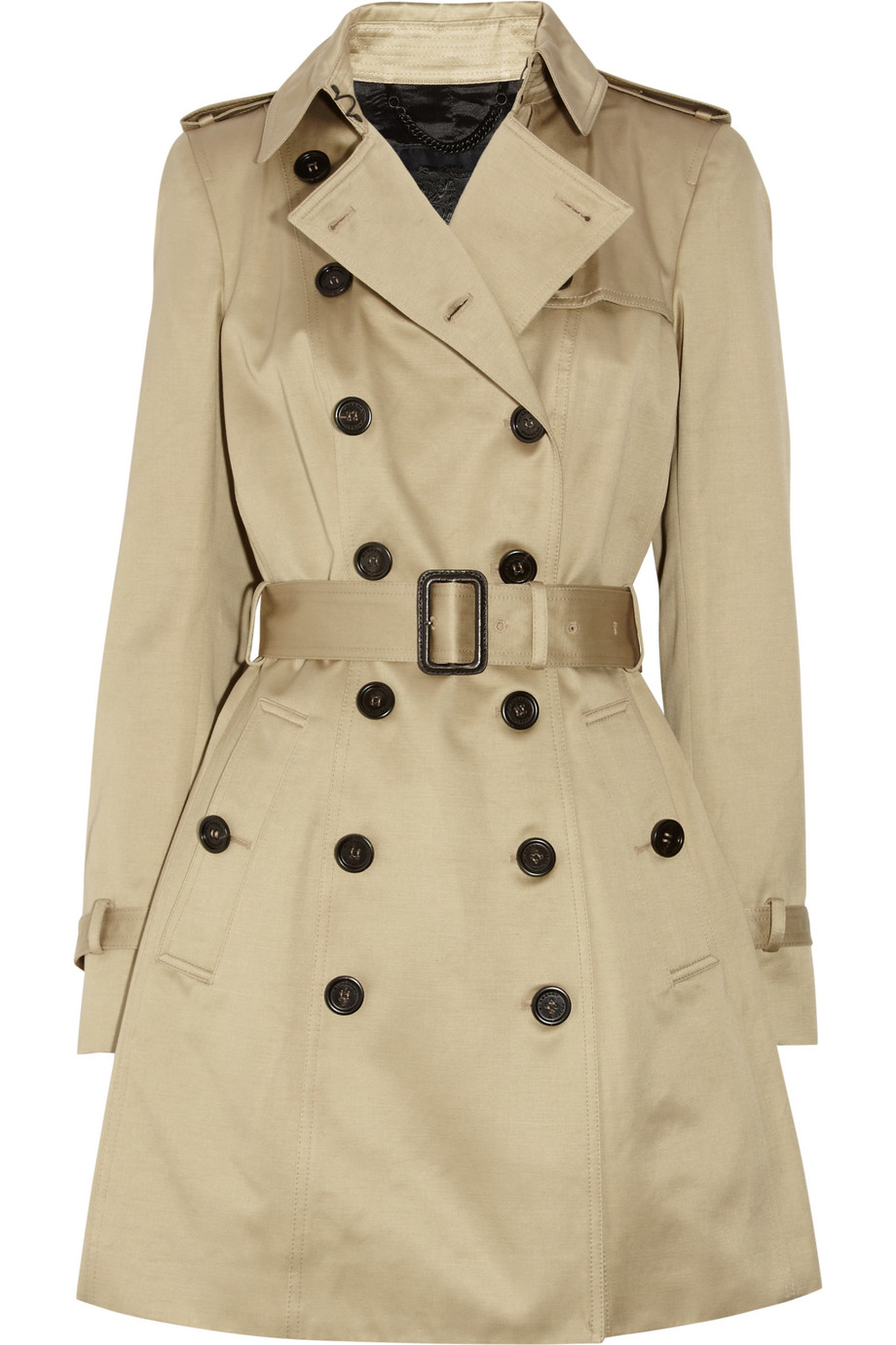 burberry prorsum cotton sateen trench coat in beige trench lyst. Black Bedroom Furniture Sets. Home Design Ideas