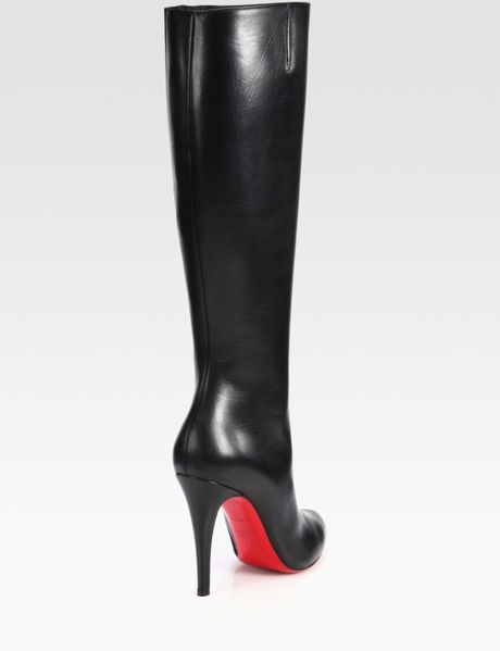 christian louboutin harletty leather knee high boots in