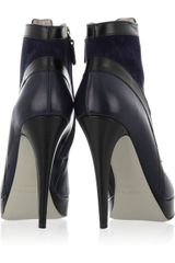Jason Wu Two Tone Leather and Suede Ankle Boots in Blue (navy) - Lyst