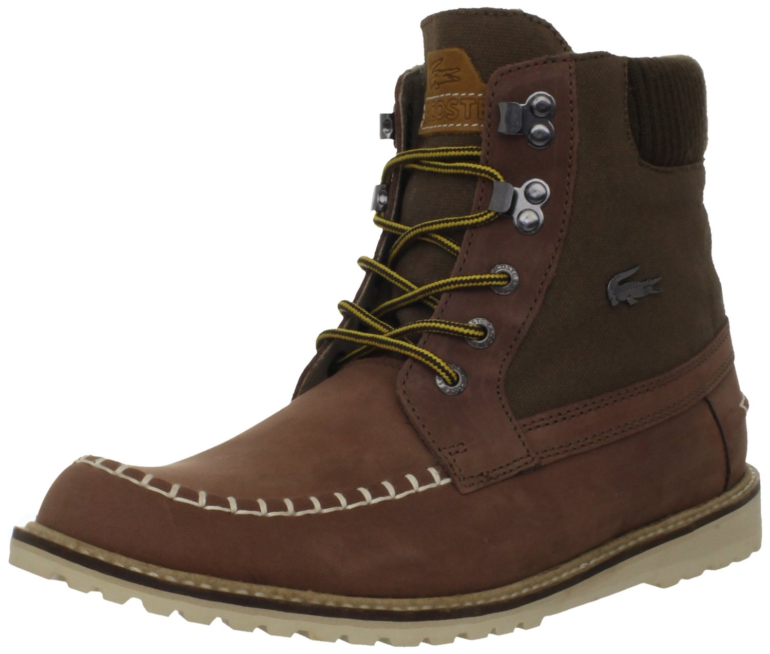 lacoste lacoste mens lousteau 3 boot in brown for