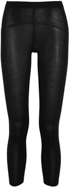 Madeleine Thompson Audrey Fineknit Cashmere Leggings in Black - Lyst