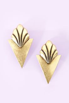 Nasty Gal Sharp Shell Earrings - Lyst