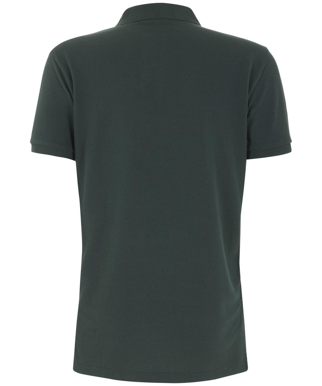 de2c41a4f4104 Lyst - Polo Ralph Lauren Dark Green Custom Fit Mesh Polo Shirt in ...
