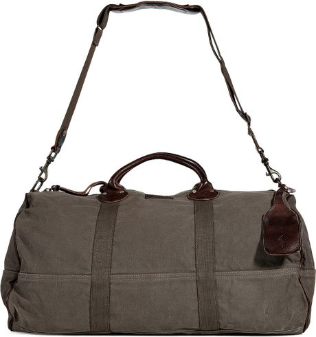 Polo Ralph Lauren Olive Canvas Barrell Duffle Bag in Green for Men (olive) - Lyst