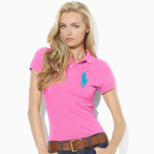 ac395672 Ralph Lauren Blue Label Neon Big Pony Polo in Pink - Lyst