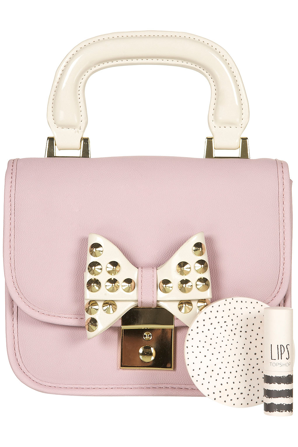 Lyst Topshop Lady Bow Bag Spike Stud In Purple
