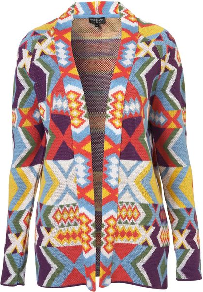 Topshop Knitted Bracelet Cardi in Multicolor (multi)