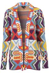 Topshop Knitted Bracelet Cardi in Multicolor (multi) - Lyst