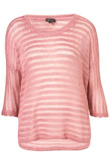Topshop Ladder Stripe Sweater - Lyst