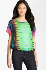 Vince Camuto Mirror Rainbow Sheer Blouse - Lyst