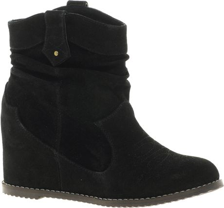 aldo colibasi concealed wedge ankle boots in black lyst