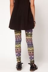 Asos Collection  Leggings in Ombre Aztec Print in Multicolor (multi) - Lyst