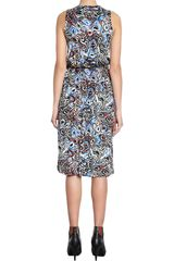 Balenciaga Magma Dress in Blue - Lyst