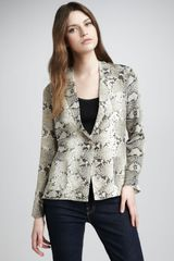 Elizabeth And James Christopher Snake-Print Blazer - Lyst
