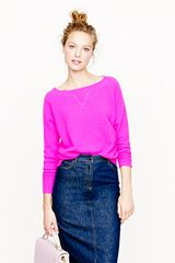 J.Crew Collection Cashmere Isabel Waffle Sweatshirt