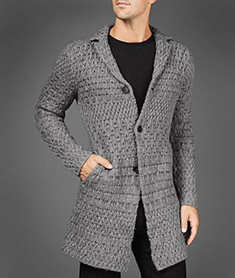 John Varvatos Jacquard Cardigan in Gray for Men (griffin)