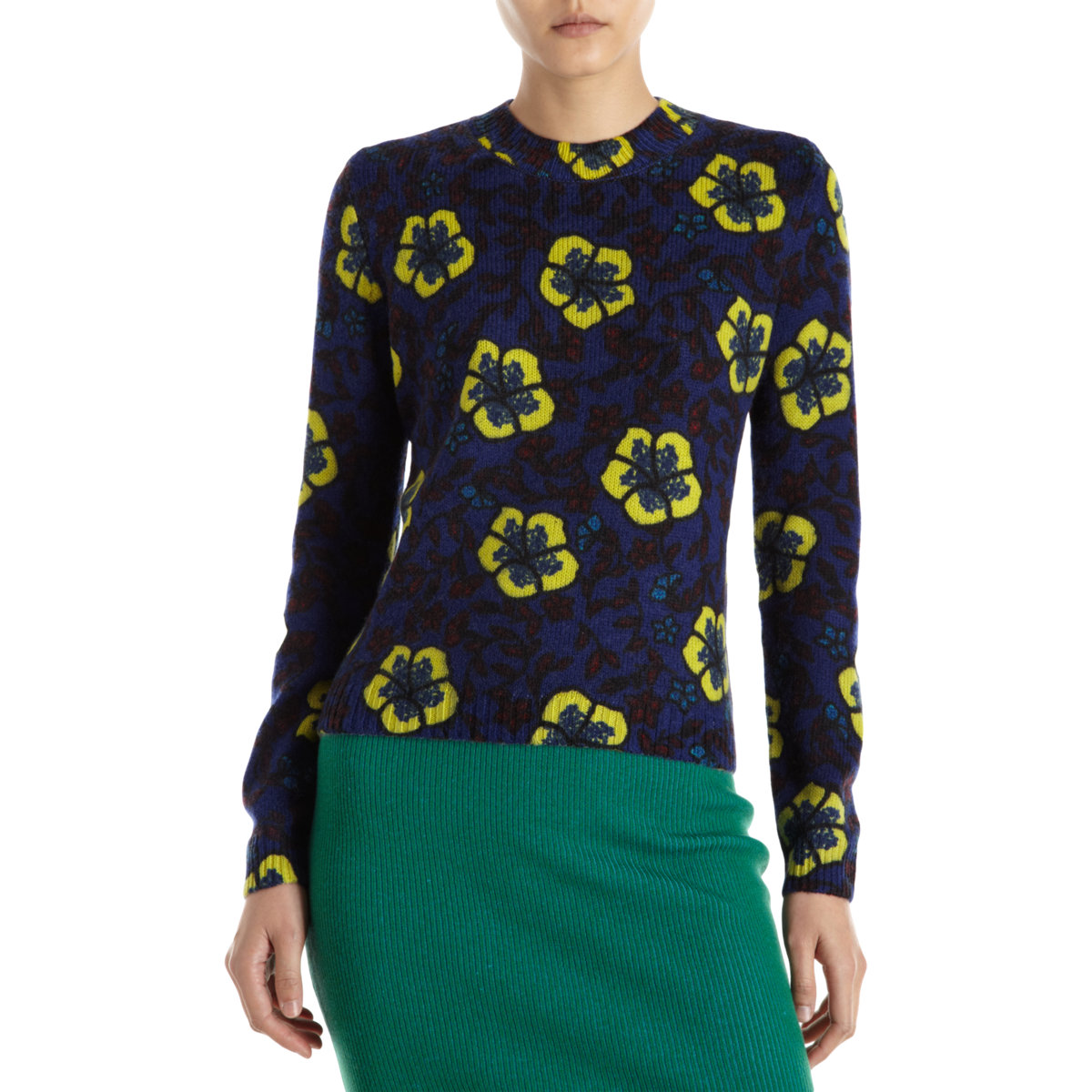 kenzo flower sweater in blue lyst. Black Bedroom Furniture Sets. Home Design Ideas