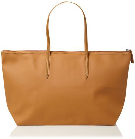 7243121e7d9 Lacoste Pique Large Tote in Brown (tan)