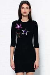 Markus Lupfer Sequin Star Knit Dress - Lyst