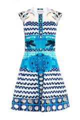 Mary Katrantzou Delcar Tiktok Print Dress - Lyst