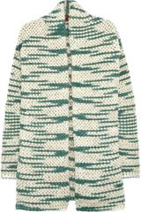 Missoni Metallic Flecked Woolblend Cardigan in Green (cream) - Lyst