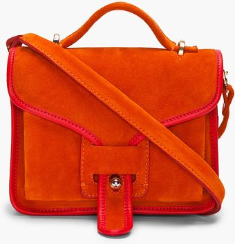 Opening Ceremony Orange Combo Suede Messenger Bag - Lyst