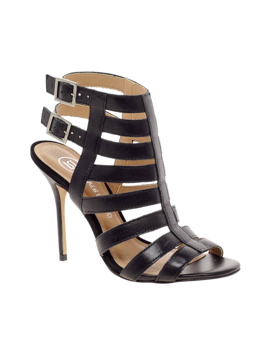 Lyst River Island Olivia Caged Heeled Sandals In Black