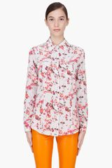 Thakoon Addition Ivory Silk Seamed Blouse - Lyst