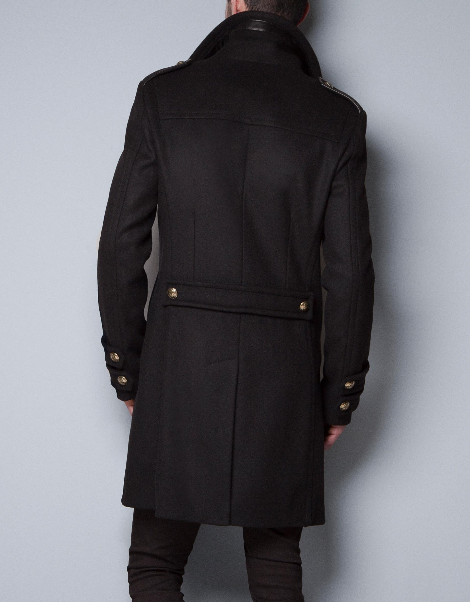 Black Military Style Coat